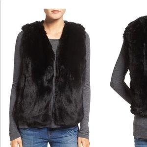 Madewell faux fur vest black